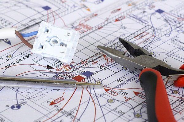 elektriker frederiksberg el-entreprise plantegning ledning